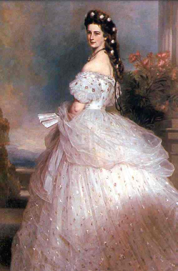 11 Royal Style. A History of Aristocratic Fashion Icons 3 Dress designed by Charles Frederick Worth for Elisabeth of Austria painted by Franz Xaver Winterhalter